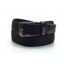 Брючный текстильный ремень черного цвета 35 мм, батал BT-h-0011