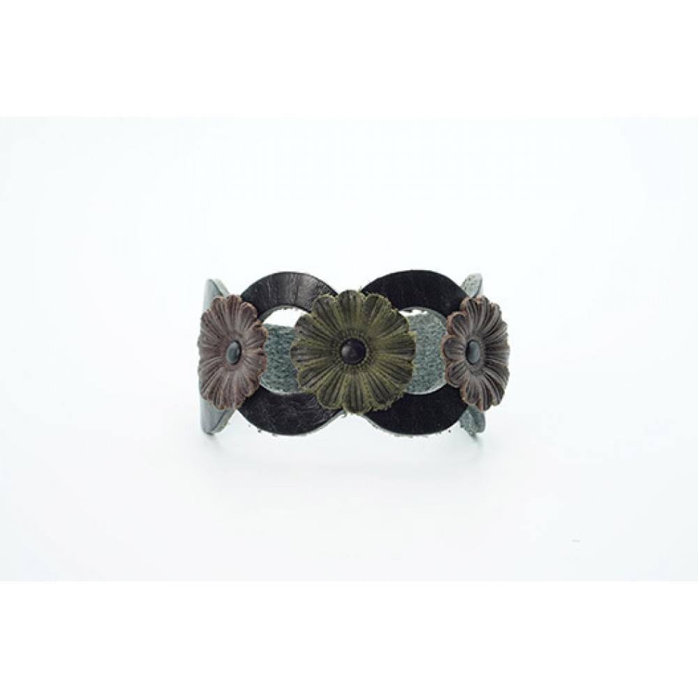 Кожаный браслет Гранж 40 мм BR-h-5001