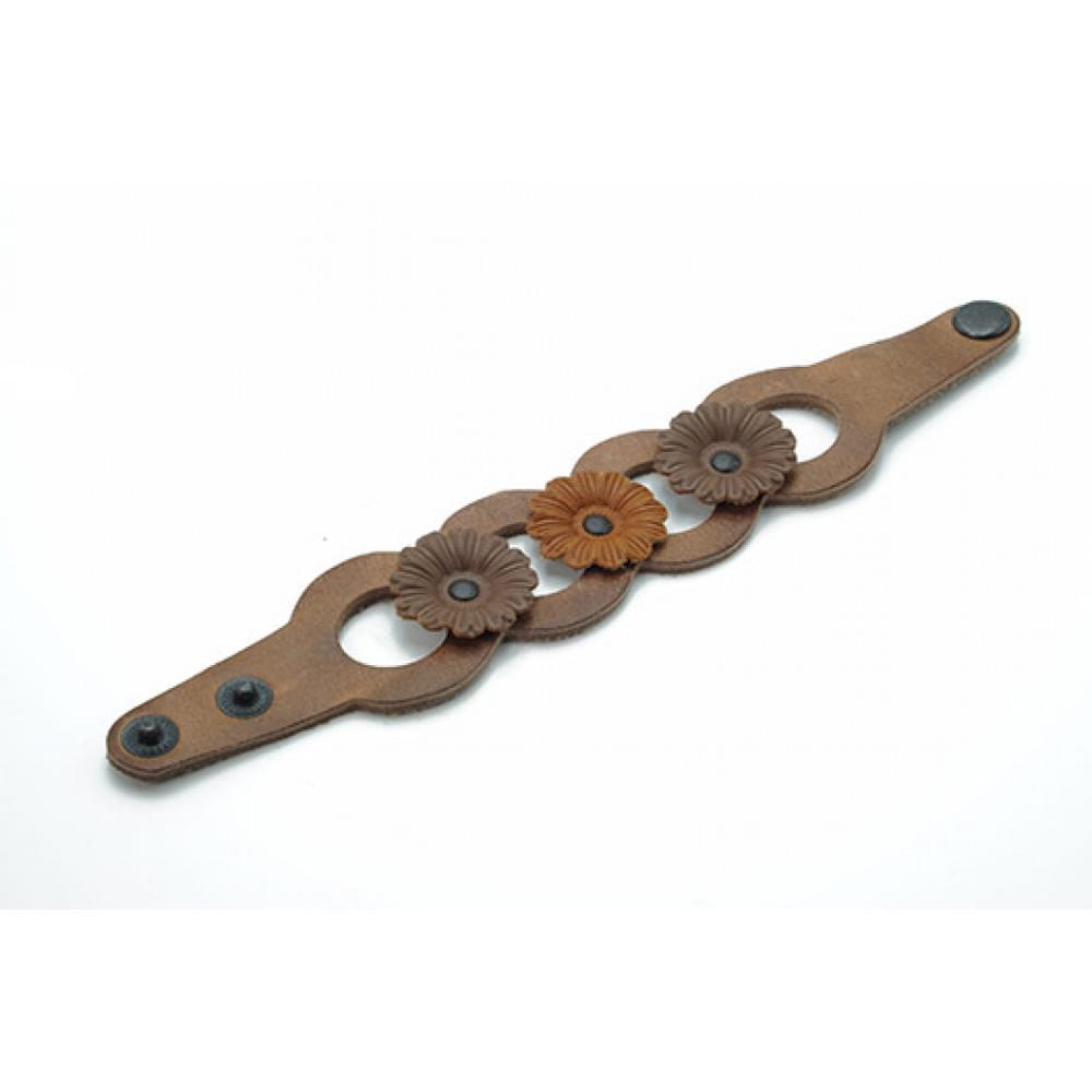 Кожаный браслет Гранж 40 мм BR-k-5005