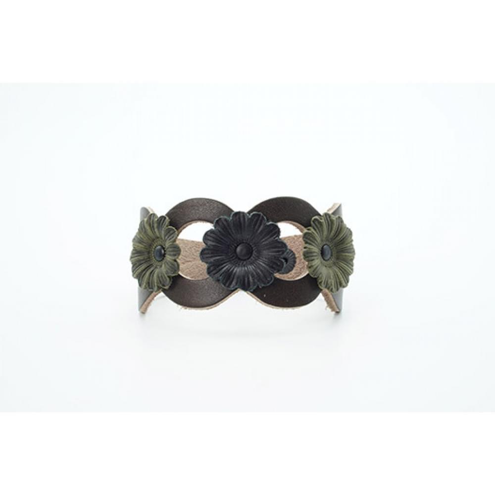 Кожаный браслет Гранж 40 мм BR-w-5002