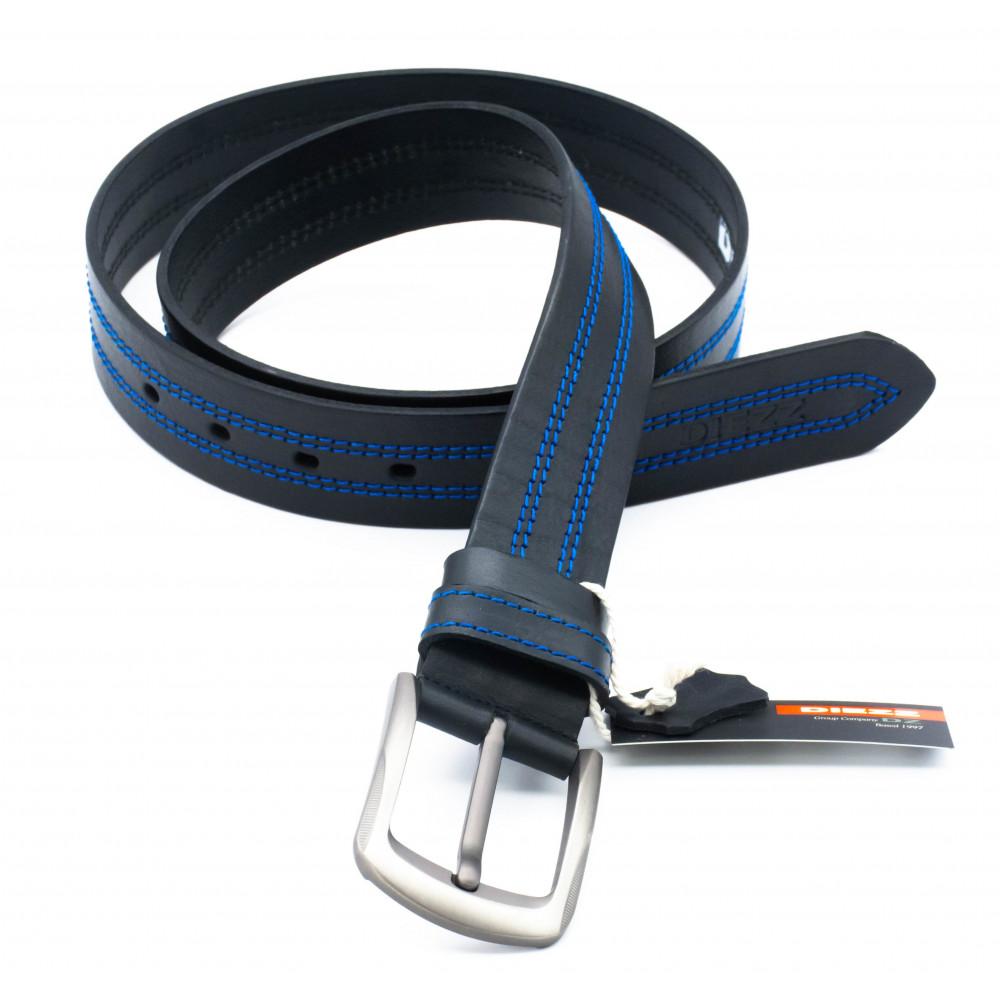 Джинсовый ремень синяя нить 40 мм DN-h-2116