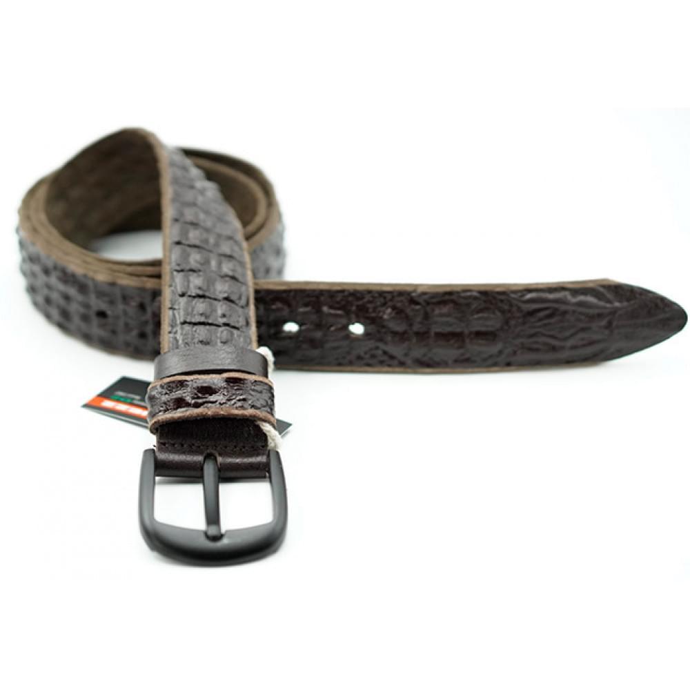 Ремень джинсовый Техас, рисунок 3D рептилия 40 мм DG-k-0147