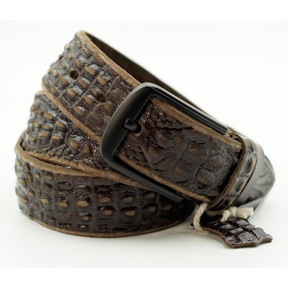 Ремень джинсовый Техас, рисунок 3D рептилия, 40 мм, цвет: старая Америка DT-k-0147