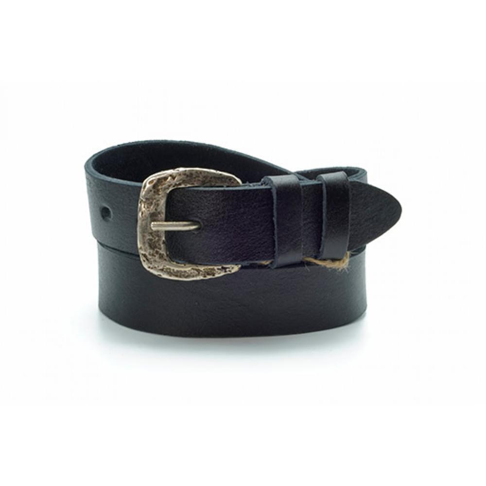 Ремень джинсовый 35 мм, черный, эксклюзивная кожа – Испания ES-h-0130