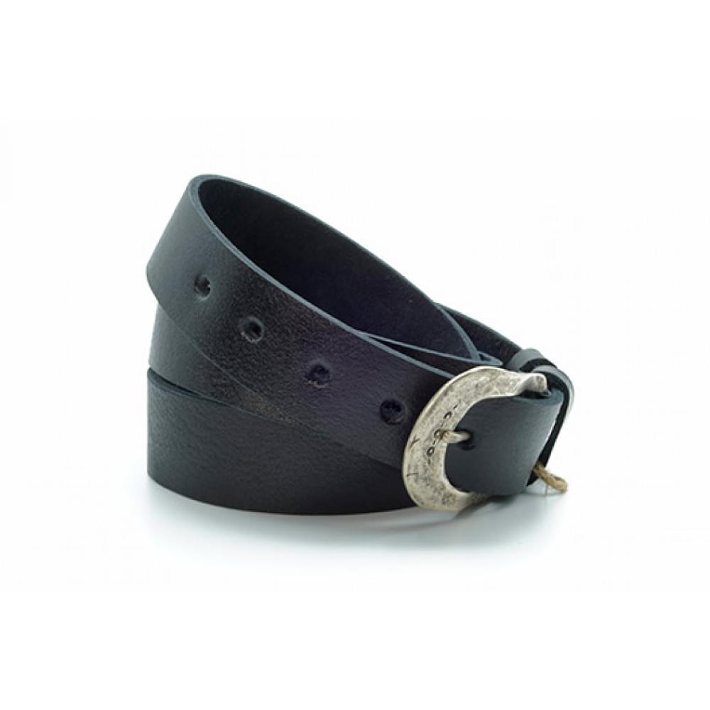 Ремень джинсовый 35 мм, черный, эксклюзивная кожа – Испания ES-h-0530