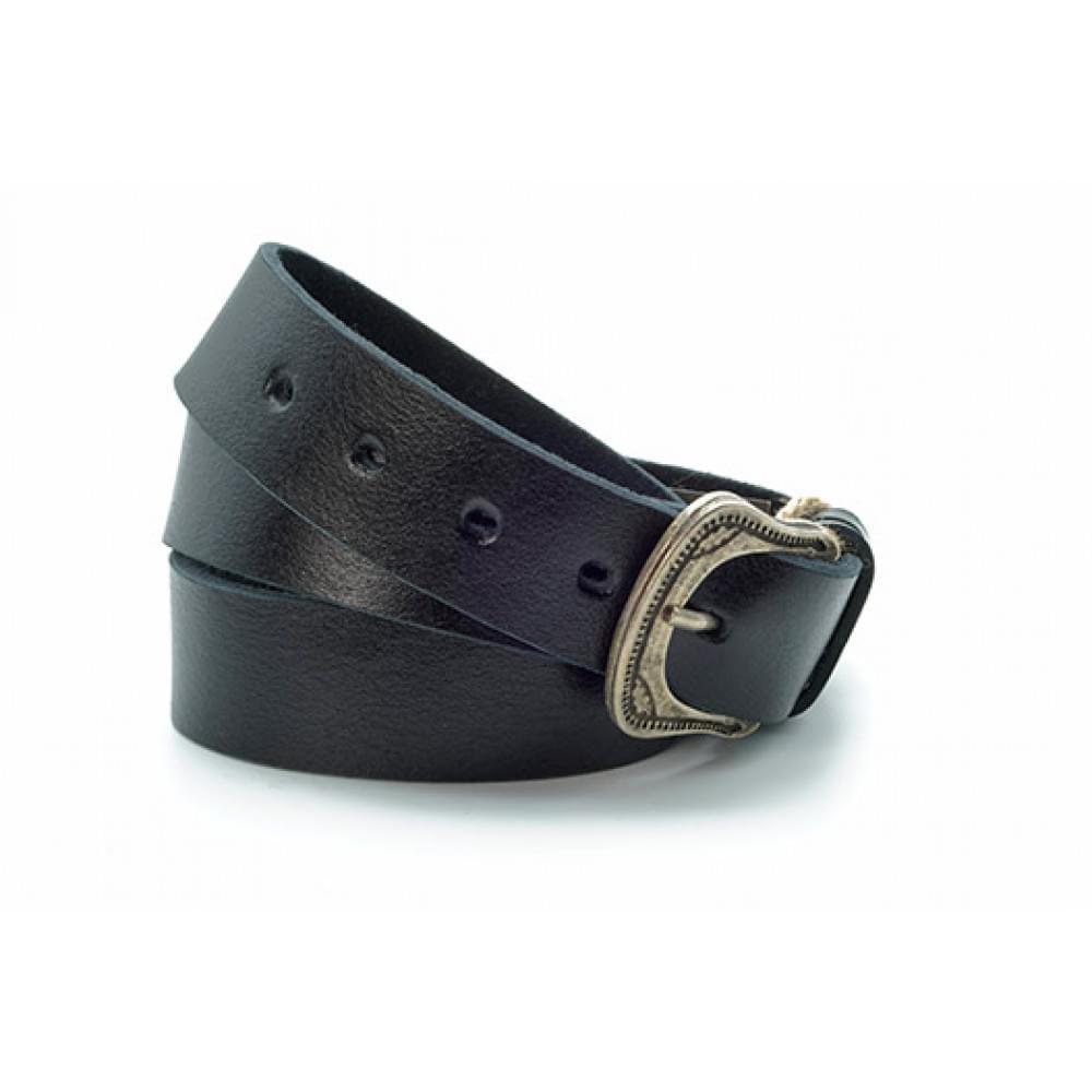 Ремень джинсовый 35 мм, черный, эксклюзивная кожа – Испания ES-h-0630