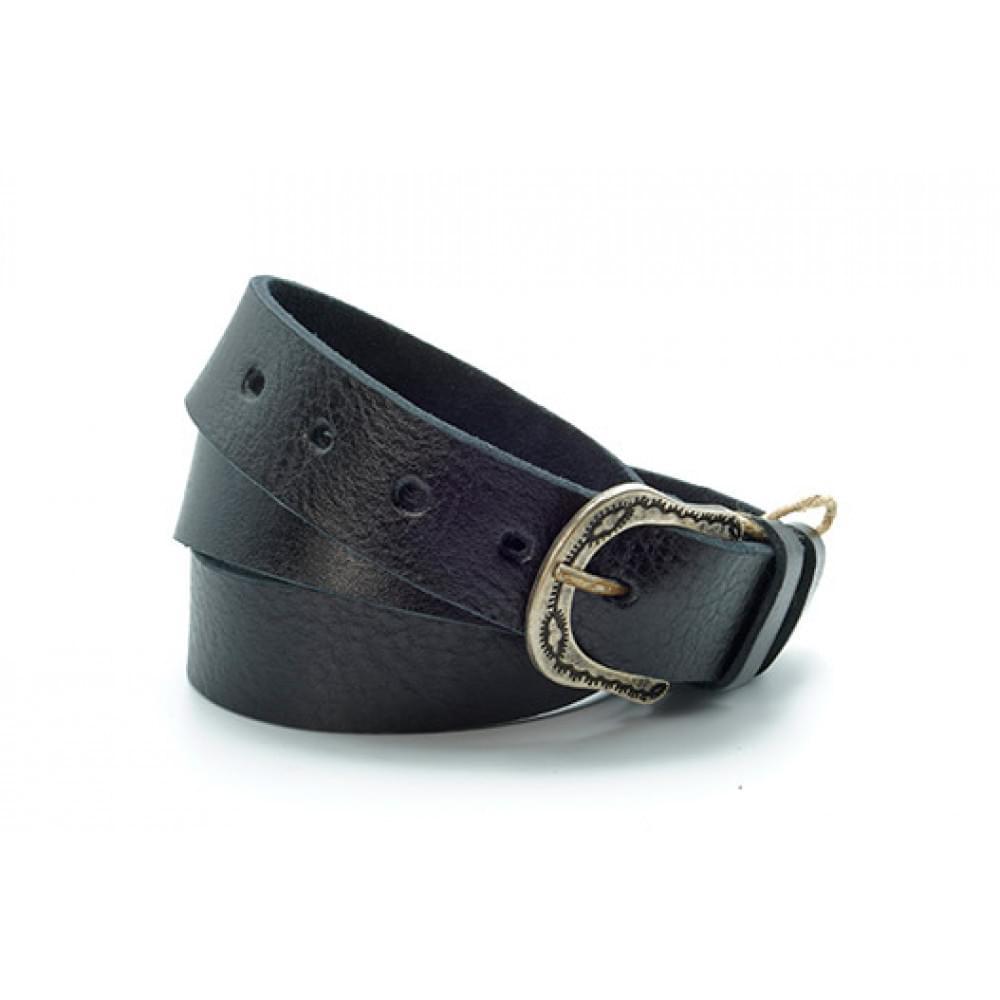 Ремень джинсовый 35 мм, черный, эксклюзивная кожа – Испания ES-h-0830