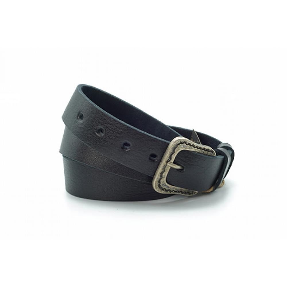 Ремень джинсовый 35 мм черный эксклюзивная кожа – Испания ES-h-0930