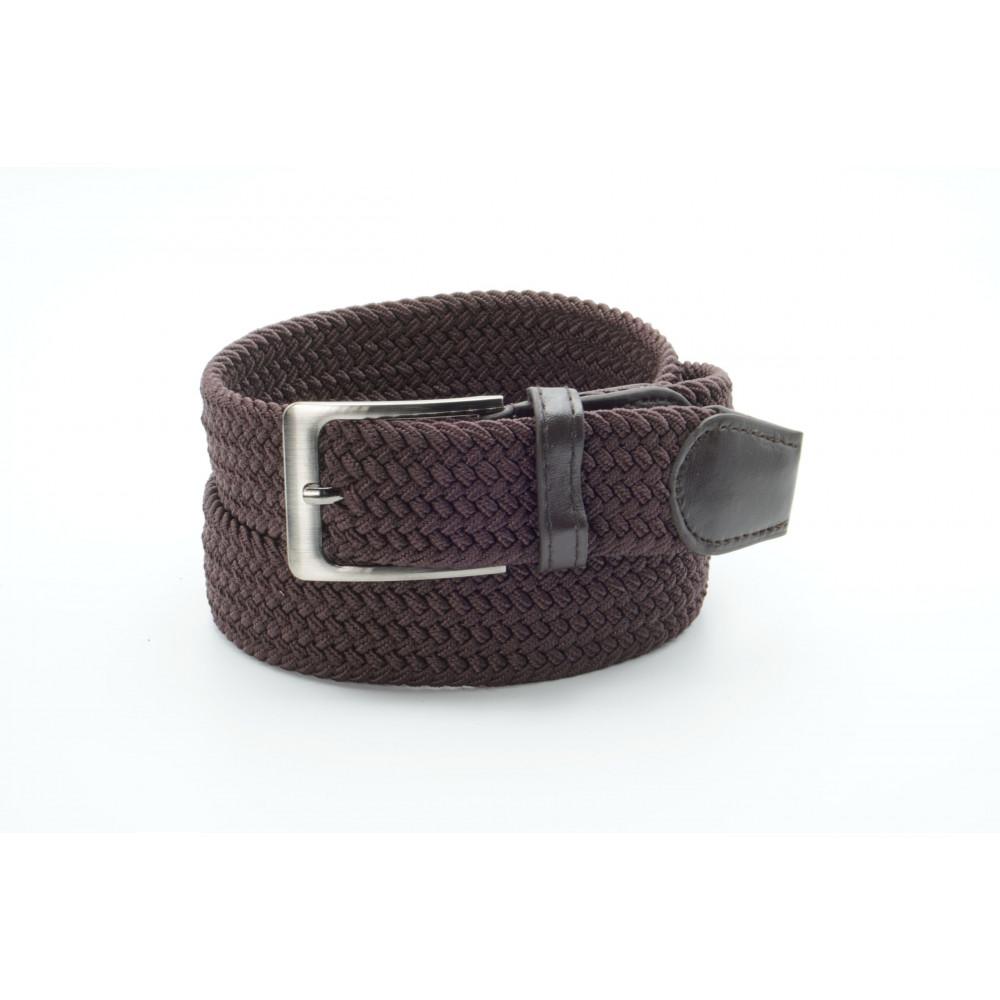 Брючный текстильный ремень коричневого цвета KV-k-0011