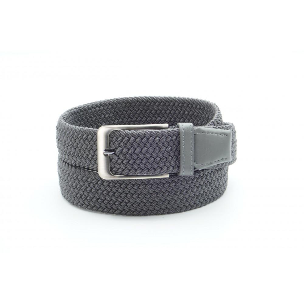 Брючный текстильный ремень серого цвета KV-c-0011