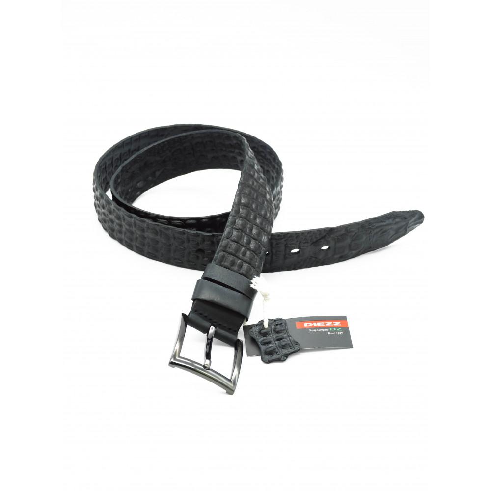Ремень джинсовый 3D рептилия (черный) 40мм 3D-h-0147