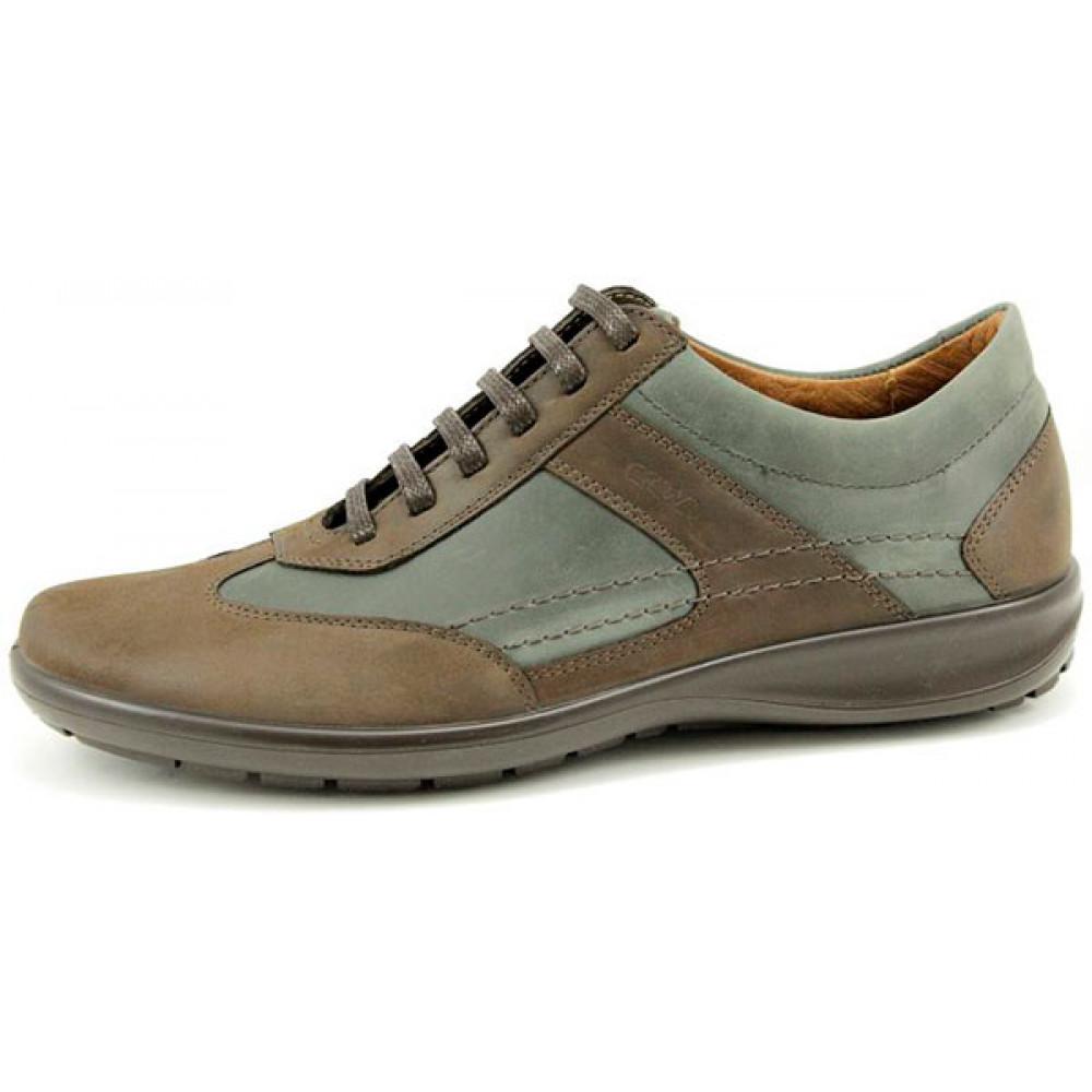 Мужские полуботинки кроссовки из натуральной кожи арт. 970