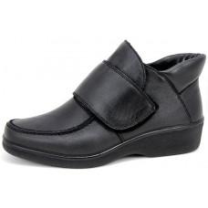 Черные ботинки женские из натуральной кожи арт. 6135-2