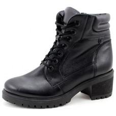 Женские ботинки на шнуровке с каблуком арт. 8172-2