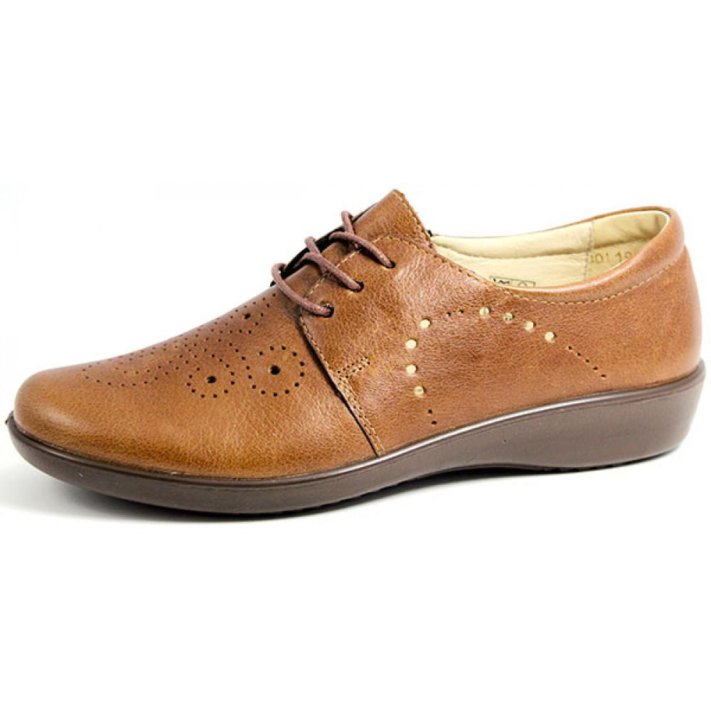 Женские летние туфли на низкой подошве со шнуровкой арт. 2028-0