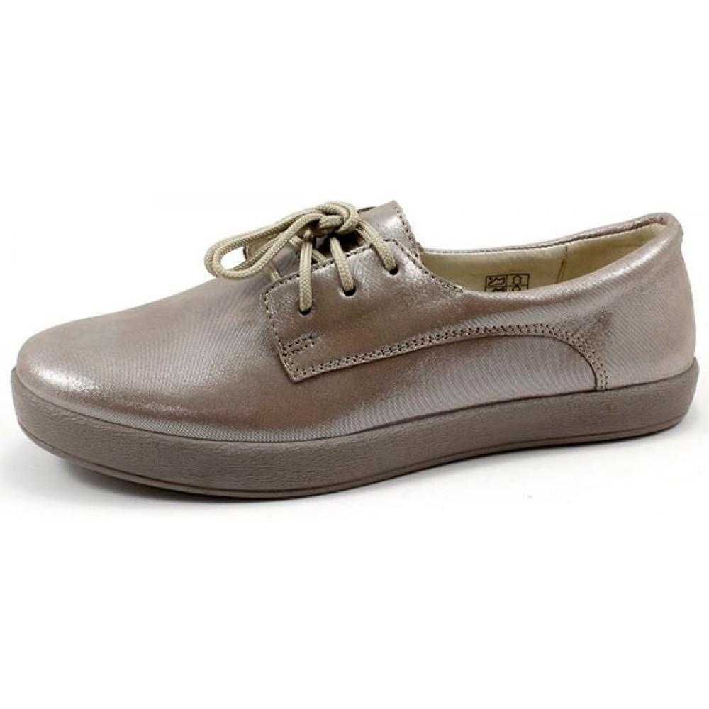 Женские туфли на сплошной подошве со шнуровкой арт. 6121